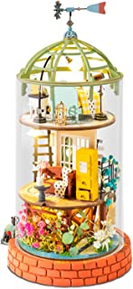 Rolife DIY Miniature Dollhouse Kit - Tiny Attic House Kit with Cover and Furniture Diorama Gifts for Adults/Parents/Teens...