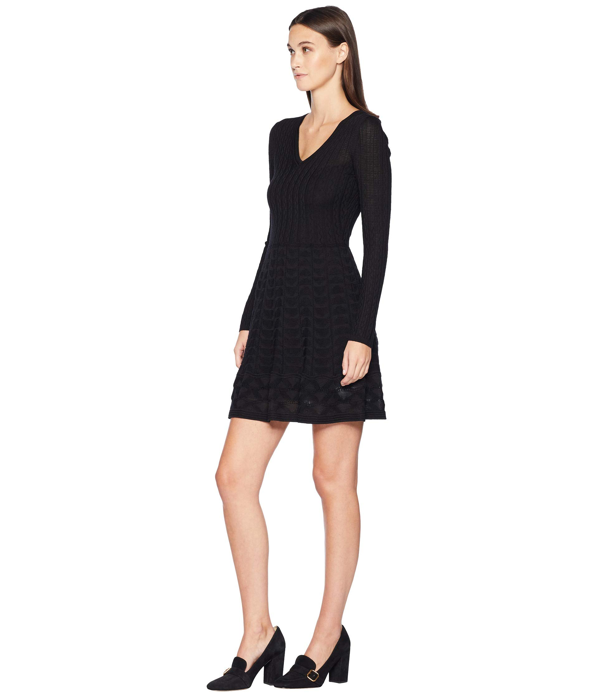 Black Missoni V Solid Dress M neck x4XCqwvpp