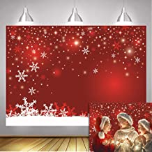 Daniu Red Christmas eve Photography Backdrops Winter Snowflake Holiday Photo Backgrounds 210cmx150cm