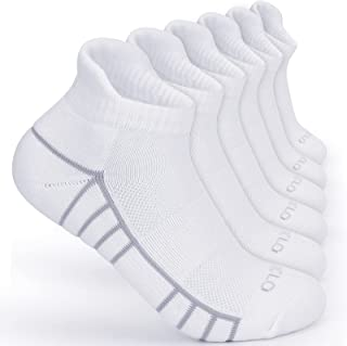 6 Pairs Womens Mens Running Socks 4-7,9-12 Trainer Sports Walking Work Cycling Hiking Ankle Socks for Ladies,Anti-Blister ...