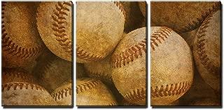 wall26 - Aged Retro Baseball Background - Canvas Art Wall Decor - 16