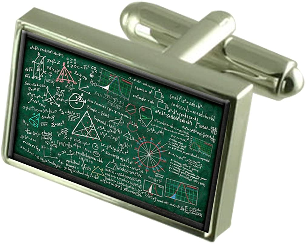 Select Gifts Professor Math Chalk with Pouch Board Tampa Virginia Beach Mall Mall Cufflinks