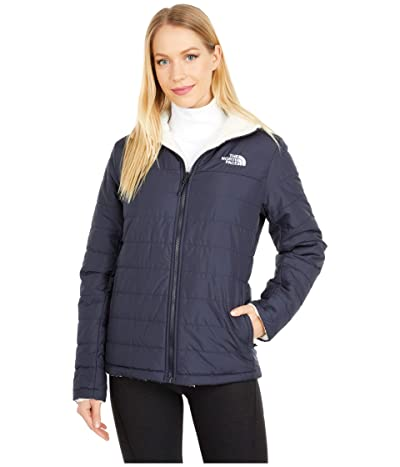 The North Face Mossbud Insulated Reversible Jacket (Aviator Navy/Vintage White) Women