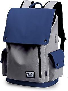 WindTook USB Anschluss Laptop Rucksack Damen Herren Daypack Schulrucksack für 15,6 Zoll Notebook, Wasserabweisend, 20L, 30 x 17 x 45cm, Blau