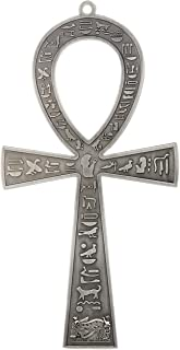 """NileCart 8.5"""" Large Metal Egyptian ANKH Cross Made in Egypt with Antique Sliver Tone"""