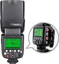 Godox TT685C TTL Flash Camera Flash Speedlite, 2.4G HSS 1/8000s TTL GN60 Electronic Flash Compatible with Canon EOS Cameras
