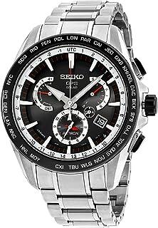 Seiko - Reloj de Pulsera para Hombre con cronógrafo, Cuarzo, Acero Inoxidable SSE051J1
