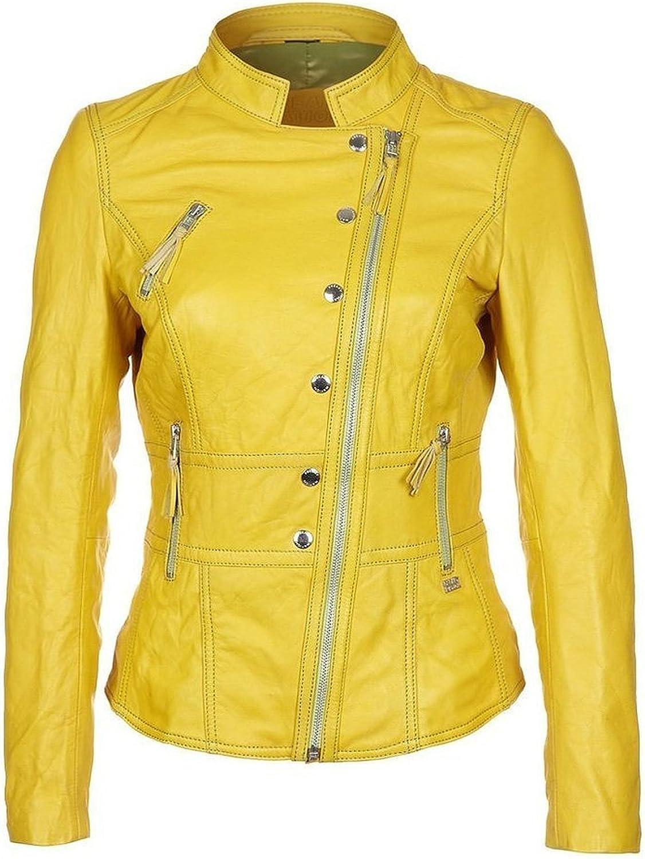 100% New Genuine Leather Lambskin Women Biker Motorcycle Jacket Ladies LTN293