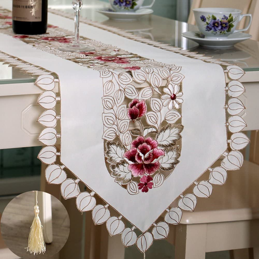 Fashionmall Classic El Paso Mall Rural Sale Special Price Style Table Out Embroid Runners Hollow