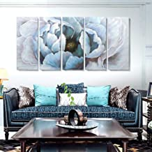 amatop Extra Large Modern Abstract Floral Wall Art Living Room Hand-Painted Blooming Flower Oil Painting on Wrapped Canvas...