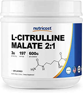 Nutricost L-Citrulline Malate (2:1) Powder (600 Grams)
