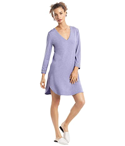 Natori Feathers Essentials Sleepshirt (Heather Periwinkle Grey) Women