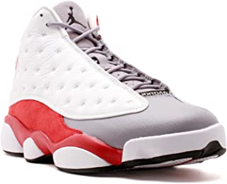 Jordan Mens AIR JORDAN 13 RETRO White/True Red/Cement Grey/Black 414571-126 8.5
