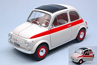 SOLIDO SL1801401 FIAT 500 L SPORT 1960 WHITE/RED 1:18 MODELLINO DIE CAST MODEL