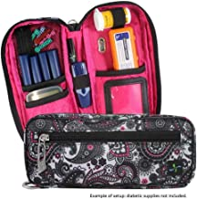 Sugar Medical Carry- All Medical Supply Case - Fits Diabetic Supplies, Glucagon, Epipen or Auvi-q or Asthma Inhalers (Olivia)
