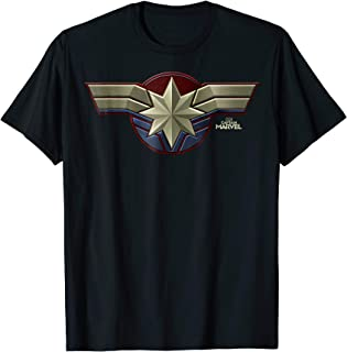 Marvel Captain Marvel Movie Chest Symbol Graphic T-Shirt