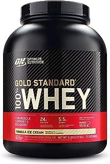 Optimum Nutrition Gold Standard 100% Whey Protein Isolate Powder, Vanilla Ice cream, 5 lb