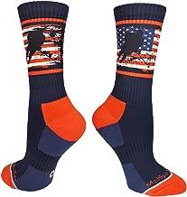 MadSportsStuff USA American Flag Hockey Player Athletic Crew Socks