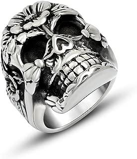 Retro Ring mit Krone Edelstahl Fingerring für Damen Herren Modeschmuck 52-67 mm