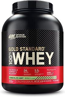 OPTIMUM NUTRITION 1088296, 100% Whey Gold Standard, Chocolate Mint, 5lbs