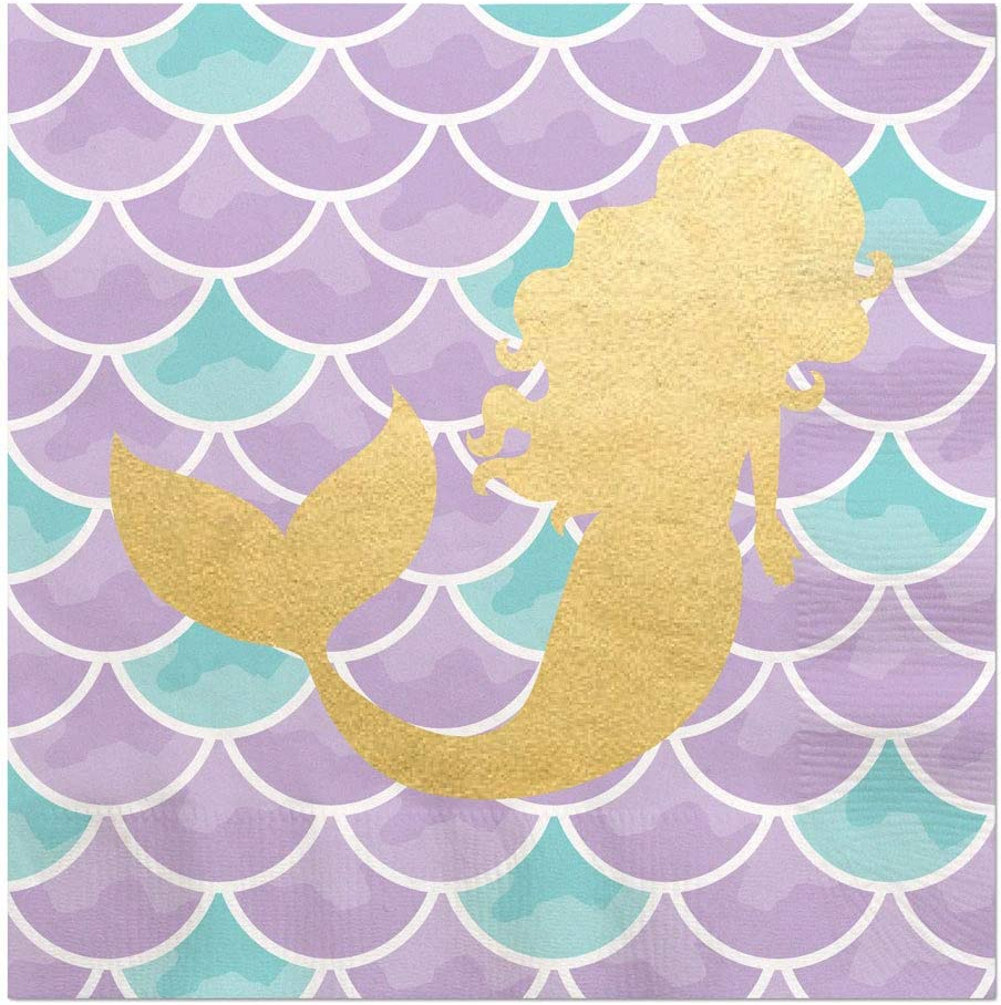 Big Dot of Happiness Let's Be Mermaids with Gold Foil - Baby Sho