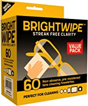 BrightWipe™ Lens Wipes - Professional Grade Isopropyl Alcohol Towelettes (60)