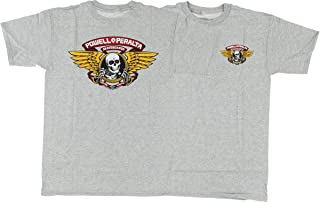 Powell Peralta Winged Ripper Short Sleeve T-Shirt XL-Grey