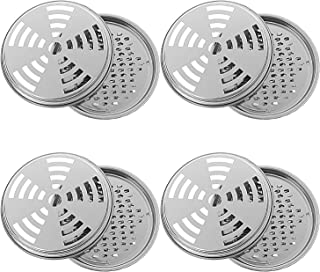 Olgaa 4 Packs Mosquito Coil Holder Coil Incense Burner with Cover Metal Mosquito Sandalwood Tin for Home and Outdoor