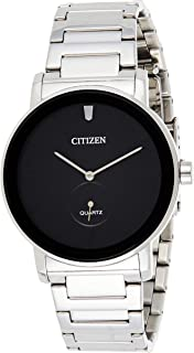 Citizen Mens Quartz Watch, Analog Display and Stainless Steel Strap - BE9180-52E
