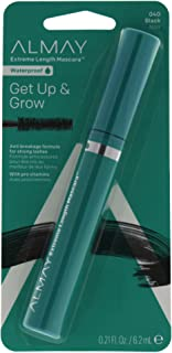 Extreme Length Waterproof Mascara, Black, Ophthalmologist Tested, Fragrance Free, Hypoallergenic, 0.21 oz