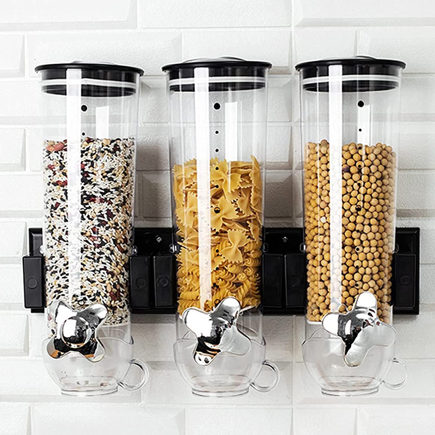 N B Food Dispensers 2 Pack Cereal half Dry Max 89% OFF Con Mount Dispenser Wall