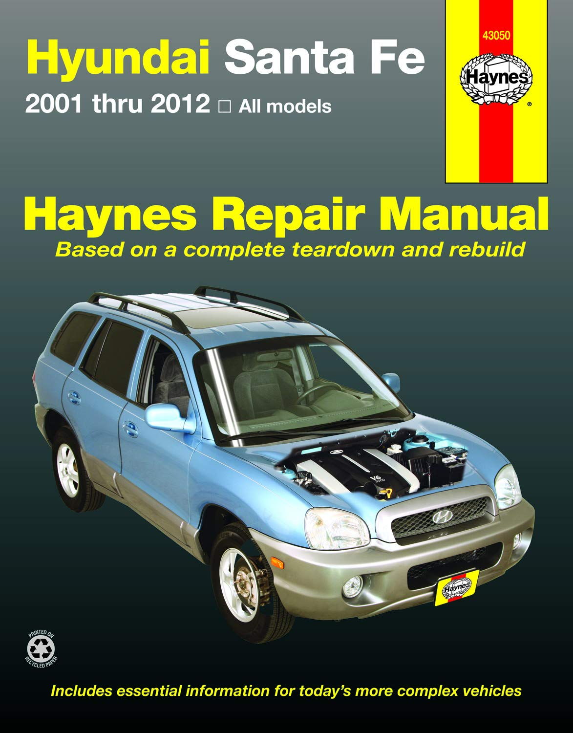 Download Hyundai Sante Fe 2001 Thru 2012 All Models Haynes Repair Manual: 2001 Thru 2012 All Models (Hayne's Automotive Repair Manual) 