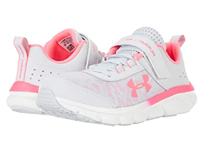 Under Armour Kids UA Assert 8 AC (Little Kid) (Halo Gray/White/Cerise) Girls Shoes