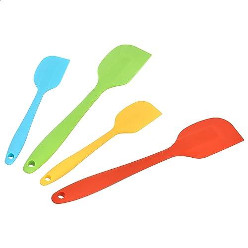AmazonCommercial Ensemble de spatules en silicone résistant à la chaleur antiadhésif 2 petites et 2 grandes spatules ...
