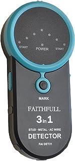 Faithfull DET31 - Detector 3 en 1 de armaduras, metal y cables con tensión