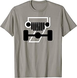 CJ-7 Off-Roading Jeep Love Black and White Design
