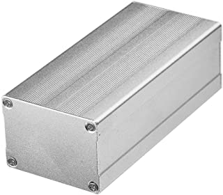 Eightwood Aluminum Electronic Project Enclosure Case 4.33 x 2.01 x 1.50(LengthWidthHeight) Asymmetric Split Body with Stri...