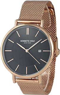 Kenneth Cole Mens Quartz Watch, Analog Display and Stainless Steel Strap KC50037009