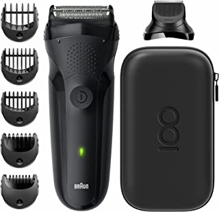 Braun Series 3 MBS3 Max Braun 100 Years Limited Edition Electric Shaver، Wet & Dry، 3 Flexible Blades، + Trimmer Head، 5 C...