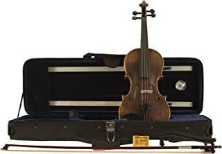 Sawtooth Carved Solid Spruce Top Violin with Flame Maple Back and Sides, Satin Antique (ST-VSSFLAME)