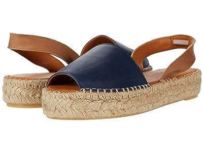 ALOHAS Ibizas Platform Espadrille Sandal (Navy) Women