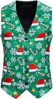 Christmas Vest for Men Tank Blazer Sleeveless Tops Coats Jumper Party Vest