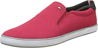 Tommy Hilfiger Men's Iconic Slip On Sneaker Low-Top (Tango Red 611), 10 UK