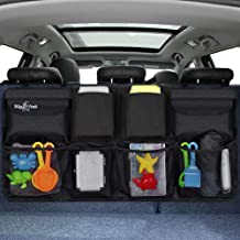 Big Ant Back Seat Trunk Organizer,Space Saving Car Trunk Storage Organizer with Lid Keep Your Trunk Clean and Tidy 8 Large Pockets Car Organizer for Kids,Travel (34 x 18 inch)