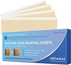 Aroamas Professional Silicone C-Section Scar Removal Sheets, Soft Adhesive Fabric Strips, Drug-Free, Relieves Itching, Remove Keloid Scars, Acne. 5.9