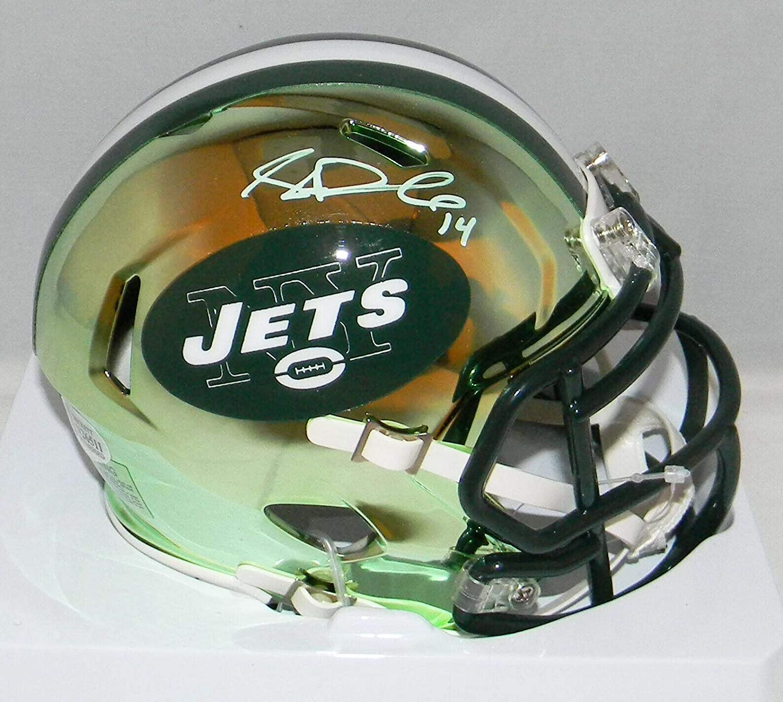 Signed Sam Darnold Mini HelmetChrome Speed BeckettBeckett AuthenticationAutographed NFL Mini Helmets