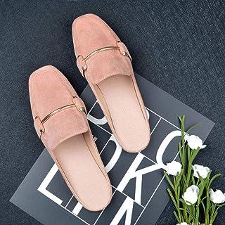 N / A Heren Slipper Sokken, Flat-Bottomed Half-Slippers, Dames Casual Schoenen Voor Buitenkleding, Plus Size Damesschoenen...