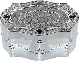 ZHICHUAN Boîte À Bijoux Hexagonale Boîte À Bijoux En Métal Boîte D'Anniversaire Bijoux Boîte de Rangement Boîte de Rangeme...