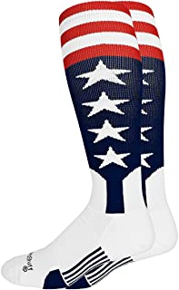MadSportsStuff USA Flag Baseball Patriotic Stirrups Socks with Stars and Stripes