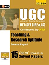 UGC NET SET JRF & LS PAPER I TEACHING &B RESEARCH APTITUDE GENERAL 15 YEARS SOLVED PAPERS 2004-18 2019 [Paperback] G K